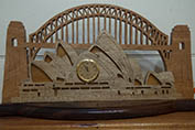 Hand made wooden clock of Opera house