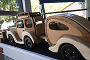 wooden car and caravan